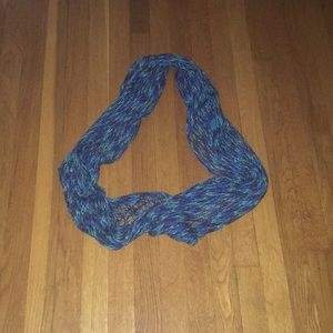 Multi colored blues greens infinity scarf large